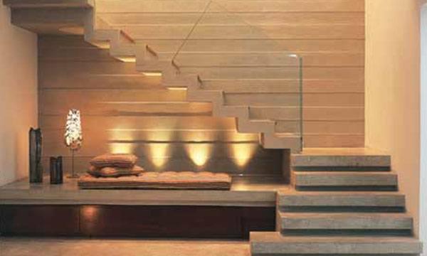Tipos de escadas para casas passo a passo pedreir o for Armar escalera metalica
