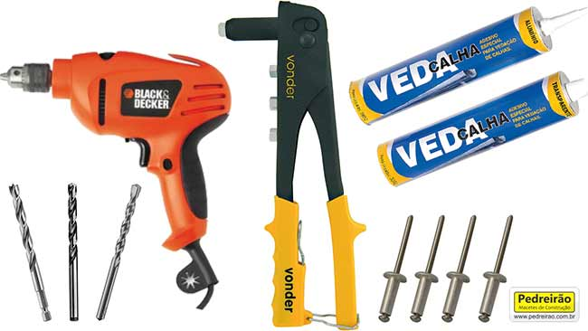 calha-ferramentas-rebitadeira-furadeira-pedreirao
