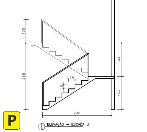 escada u corte pedreirao