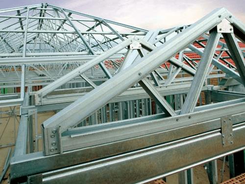 Steel Frame Casa Telhado Montagem Pedreirao