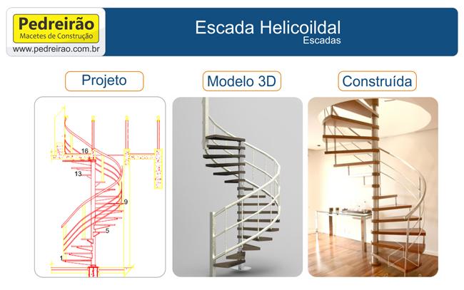 Escada Helicoidal Ou Caracol Passo A Passo Pedreirão