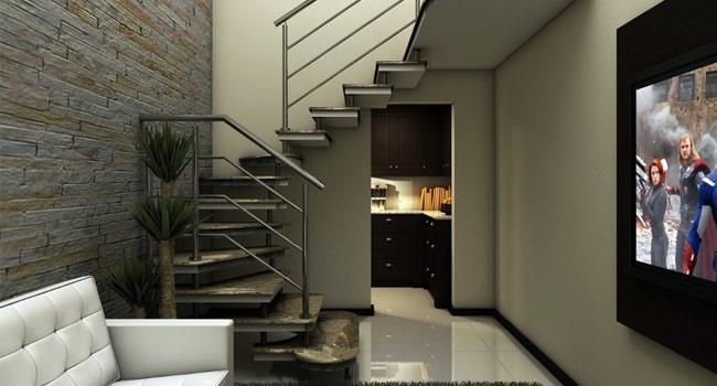 Resultado de imagem para Escada em U com piso em granito